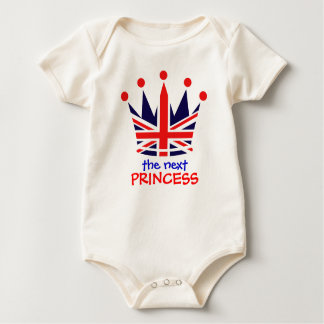 British Princess Crown Baby Bodysuit