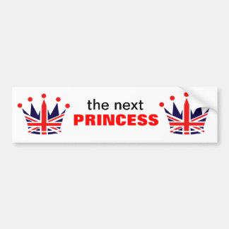 British Princess Crown Bumper Sticker
