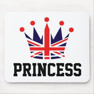 British Princess Crown Mouse Pad