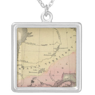 British Provinces of North America Silver Plated Necklace