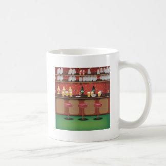British Pub Bar Basic White Mug