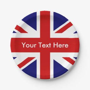 British Pub Union Jack Paper Plate  sc 1 st  Zazzle & British Pub Union Jack Paper Plate