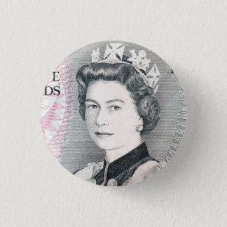 British Queen Elizabeth 2 3 Cm Round Badge