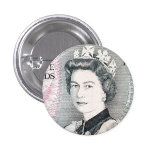 British Queen Elizabeth 2 3 Cm Round Badge