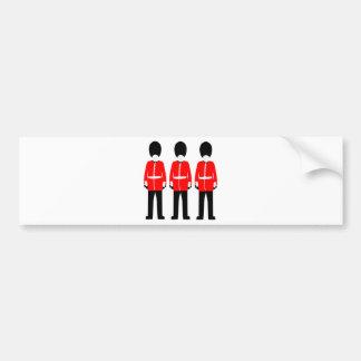 British Queen's Guard Bumper Sticker