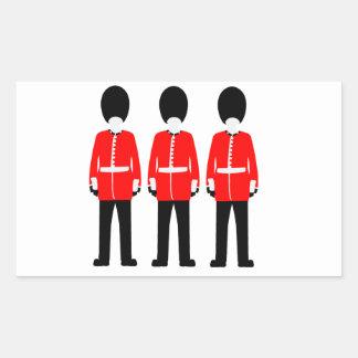 British Queen's Guard Rectangular Sticker