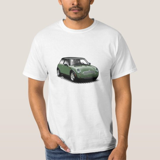 British Racing Green Modern Mini Car T-Shirt