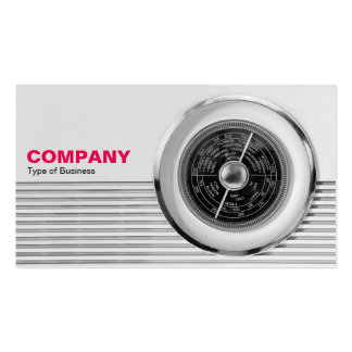 British Radio Dial - Black and White Pack Of Standard Business Cards