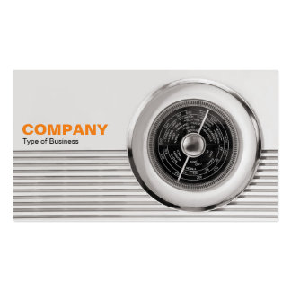 British Radio Dial - Warm Toned Black and White Pack Of Standard Business Cards