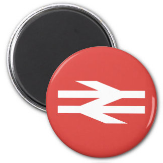 British Rail Vintage Logo 6 Cm Round Magnet