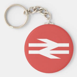 British Rail Vintage Logo Basic Round Button Key Ring
