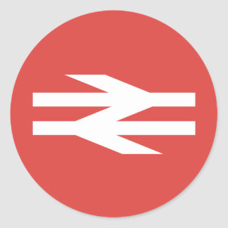 British Rail Vintage Logo Round Sticker