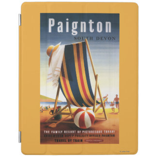 British Railways Beach Chair and Ball Poster iPad Cover