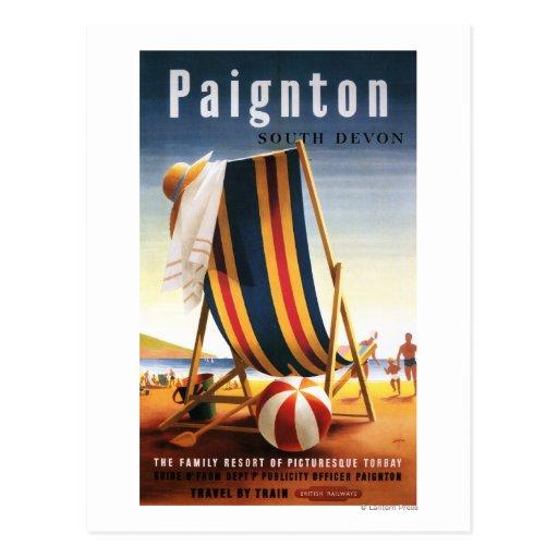 British Railways Beach Chair and Ball Poster Postcard