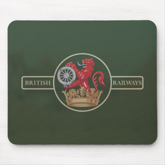 "British Railways ""Ferret and Dartboard"" Crest Mouse Mat"