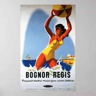 British Railways Girl and Beachball Poster