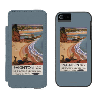 British Railways Girl Looking over a Cliff Incipio Watson™ iPhone 5 Wallet Case