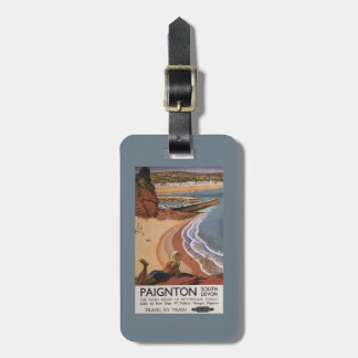 British Railways Girl Looking over a Cliff Luggage Tag
