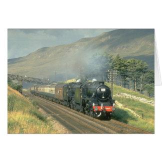 British Railway's last steam-hauled train towards Card