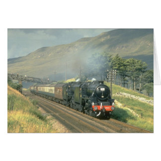 British Railway's last steam-hauled train towards Greeting Card
