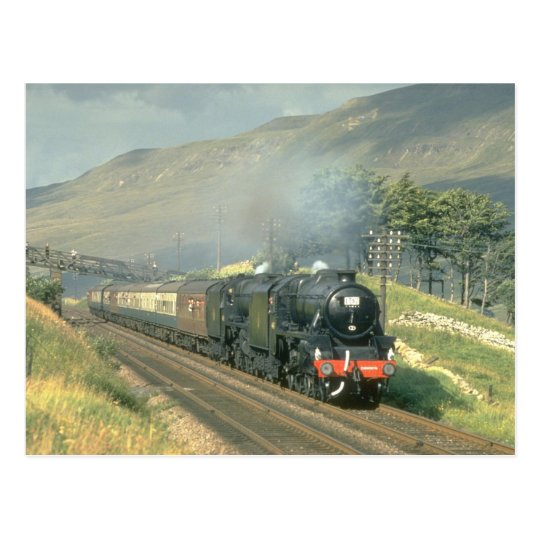 British Railway's last steam-hauled train towards Postcard