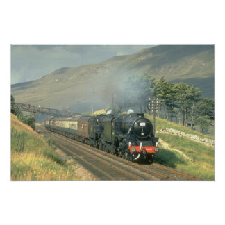 British Railway's last steam-hauled train towards Poster