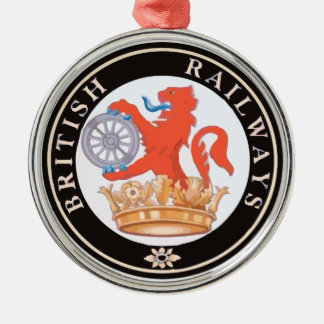 British Railways Old Vintage Trains Hiking Duck Christmas Ornament