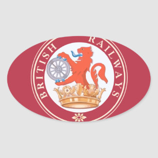 British Railways Old Vintage Trains Hiking Duck Oval Sticker
