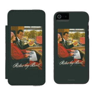 British Railways Relax by Rail Poster Incipio Watson™ iPhone 5 Wallet Case