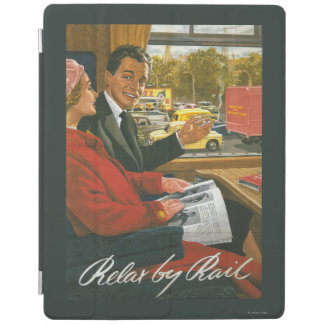 British Railways Relax by Rail Poster iPad Cover