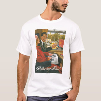 British Railways Relax by Rail Poster T-Shirt