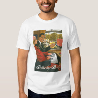 British Railways Relax by Rail Poster T Shirts