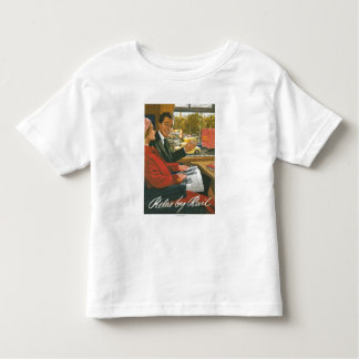 British Railways Relax by Rail Poster Toddler T-Shirt
