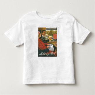 British Railways Relax by Rail Poster T Shirt