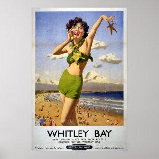 British Railways Whitley Bay 1949 Poster