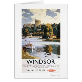 British Railways Windsor Castle Thames Poster Card