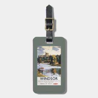 British Railways Windsor Castle Thames Poster Luggage Tag