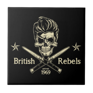 British Rebels Small Square Tile