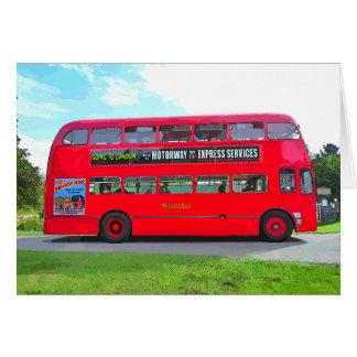 BRITISH RED BUS CARD