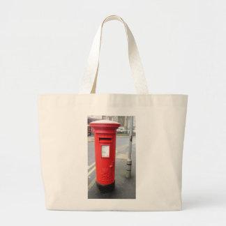 British red mail box large tote bag