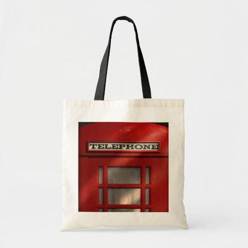 British Red Telephone Box London Tote Tote Bags