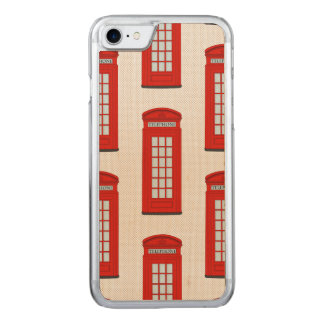 British Red Telephone Box Pattern Carved iPhone 7 Case