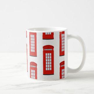 British Red Telephone Box Pattern Mugs