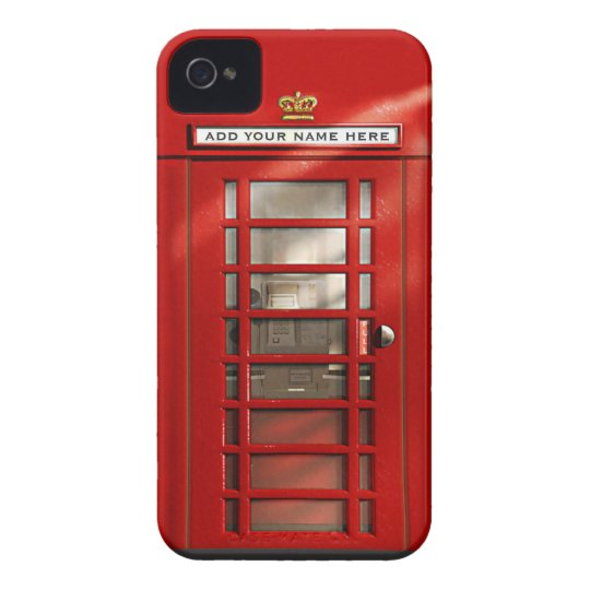 British Red Telephone Box Personalised Case-Mate iPhone 4