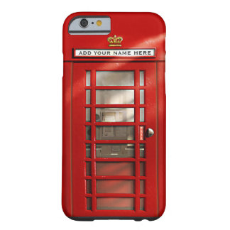 British Red Telephone Box Personalized Barely There iPhone 6 Case