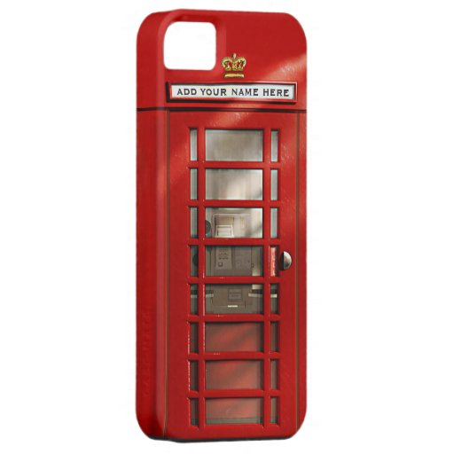 British Red Telephone Box Personalized iPhone 5 Case