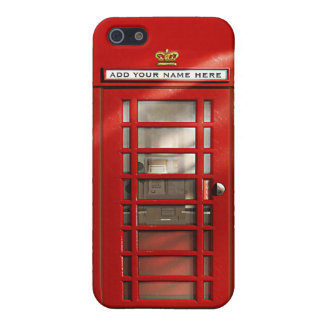 British Red Telephone Box Personalized Cover For iPhone 5/5S