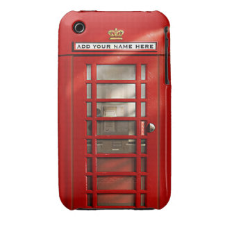 British Red Telephone Box Personalized iPhone 3 Case-Mate Case