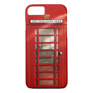 British Red Telephone Box Personalized iPhone 7 iPhone 7 Case