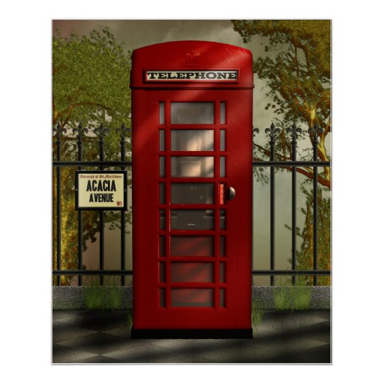 British Red Telephone Box Print